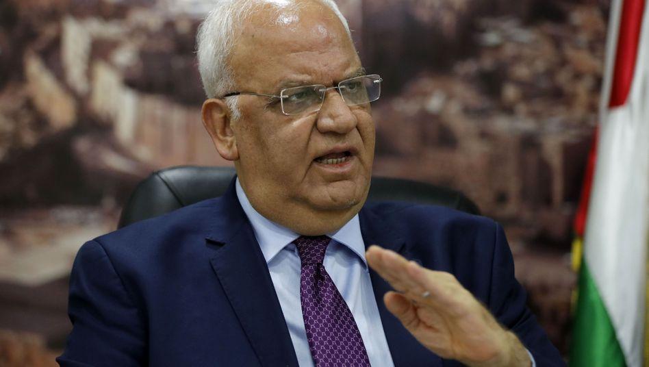 Saeb Erekat, Generalsekretär der Palästinensischen Befreiungsorganisation PLO