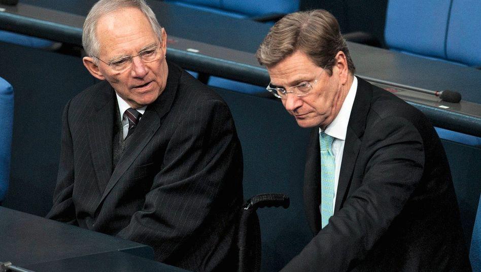 Minister Schäuble, Guido Westerwelle: Am Ende gewinnt immer das Finanzamt