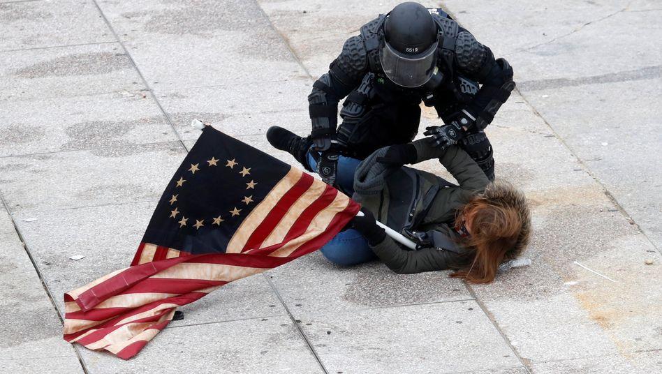 Festnahme vor dem US-Kapitol