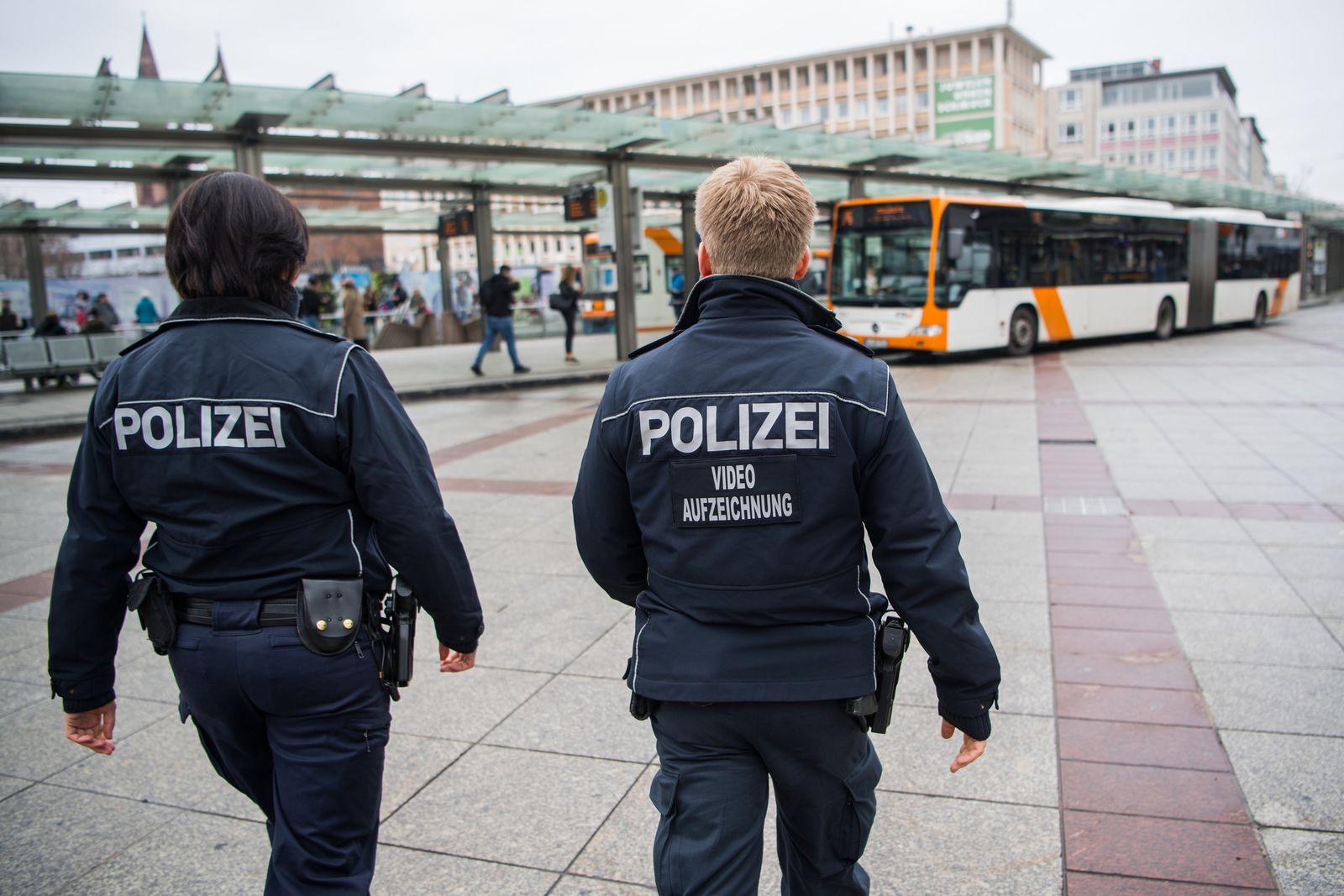 Pilotprojekt der Polizei am Berliner Platz