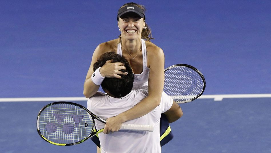 Tennisprofi Hingis: Jubel über Grand-Slam-Sieg