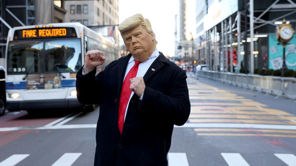 Trump-Imitator in New York (am 7. März)
