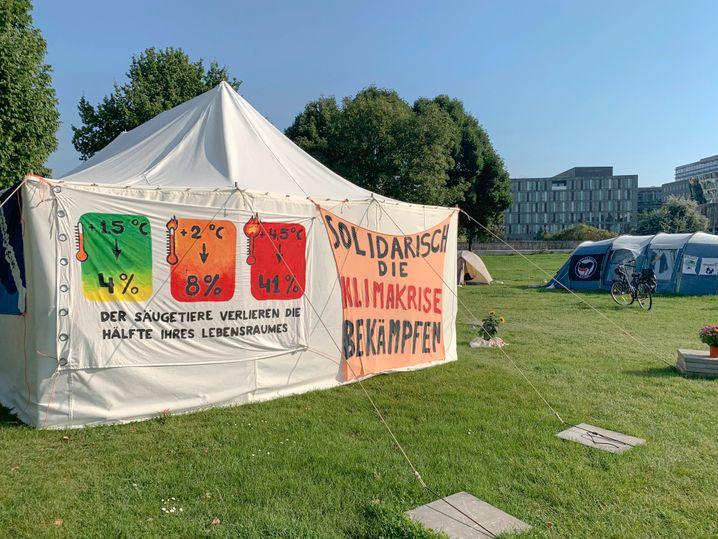 Zelte in Reichstagsnähe: »Ein letztes Mittel«