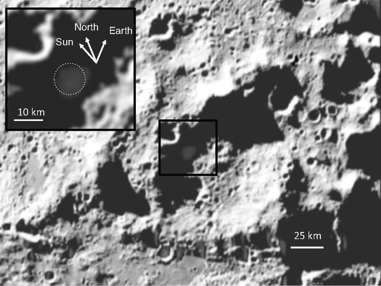 EINMALIGE VERWENDUNG Mond/ Cabeus-Krater
