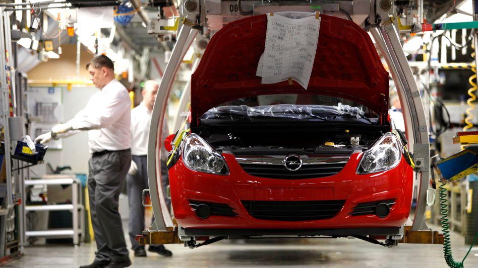 Produktionsstraße in Opel-Werk: Schichten mussten ausfallen