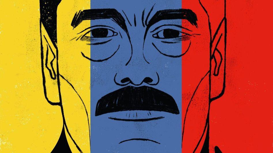 Staatschef Maduro (Illustration von Edel Rodriguez): Seine Familie ist in den Rauschgifthandel verwickelt