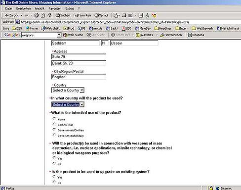 Dell-Fragebogen: Sicher ist sicher