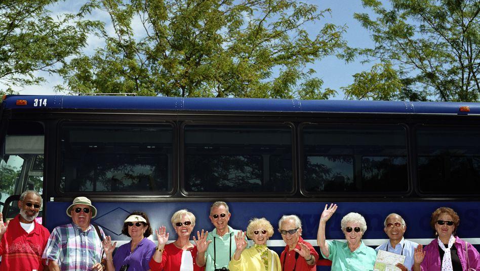 Teilnehmer einer Busreise in den USA