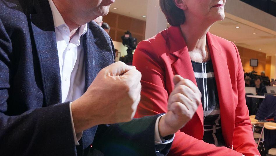 """Norbert Walter-Borjans, Saskia Esken: """"Nicht Hals über Kopf raus aus der Großen Koalition"""""""