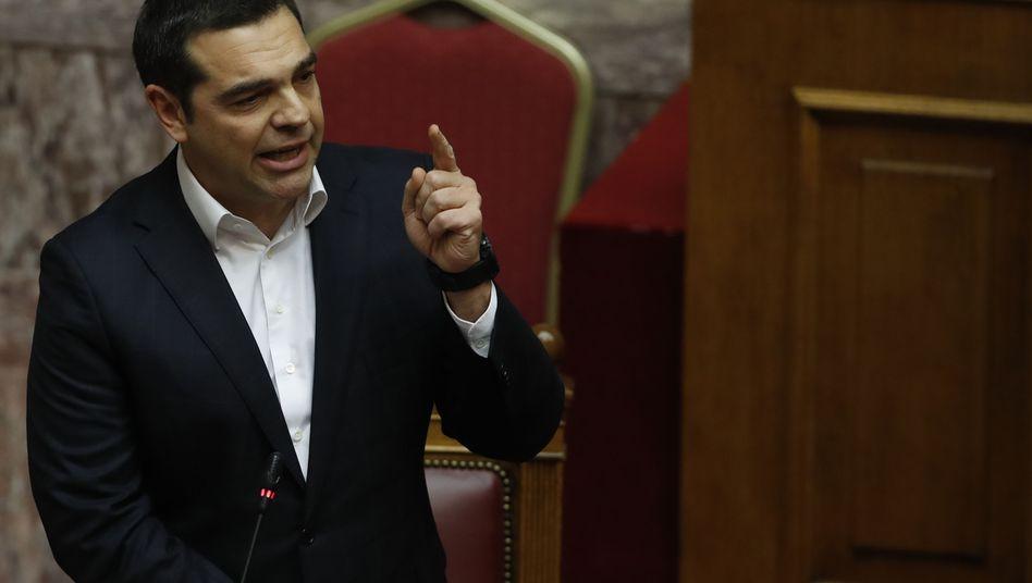 Alexis Tsipras im Parlament im Februar 2019