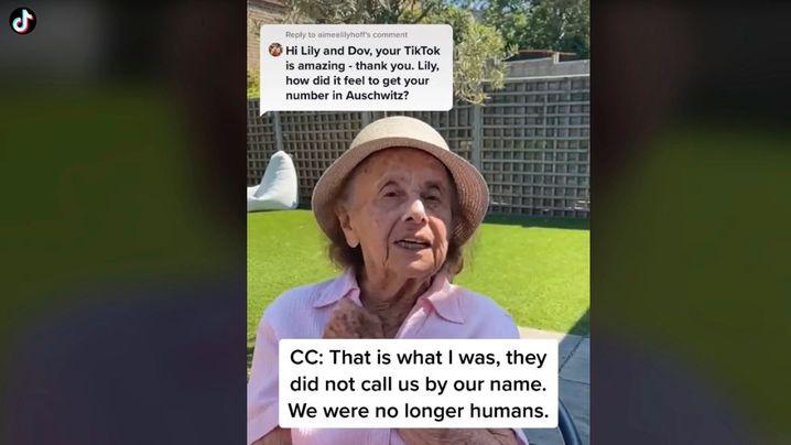 Die Holocaustüberlebende Lily Ebert beantwortet auf TikTok Fragen der Nutzerinnen und Nutzer und schildert ihren Alltag in Auschwitz
