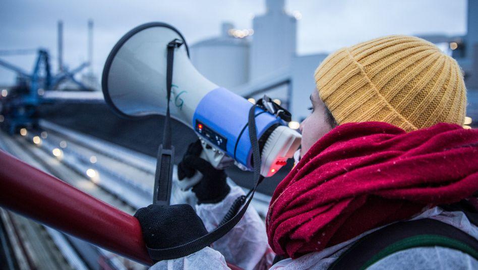 Protestierende in Datteln: Verrat am Kohlekompromiss