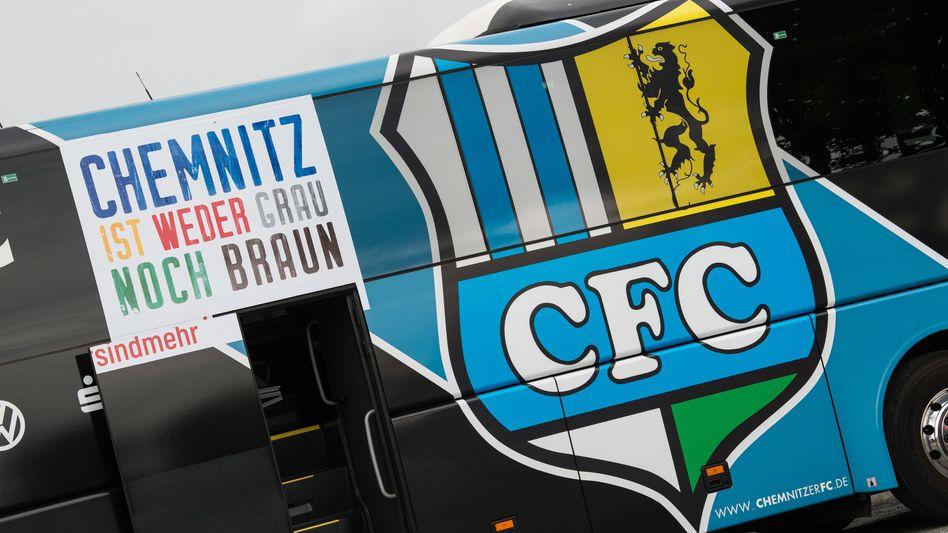 Mannschaftsbus des Chemnitzer FC (September 2018)