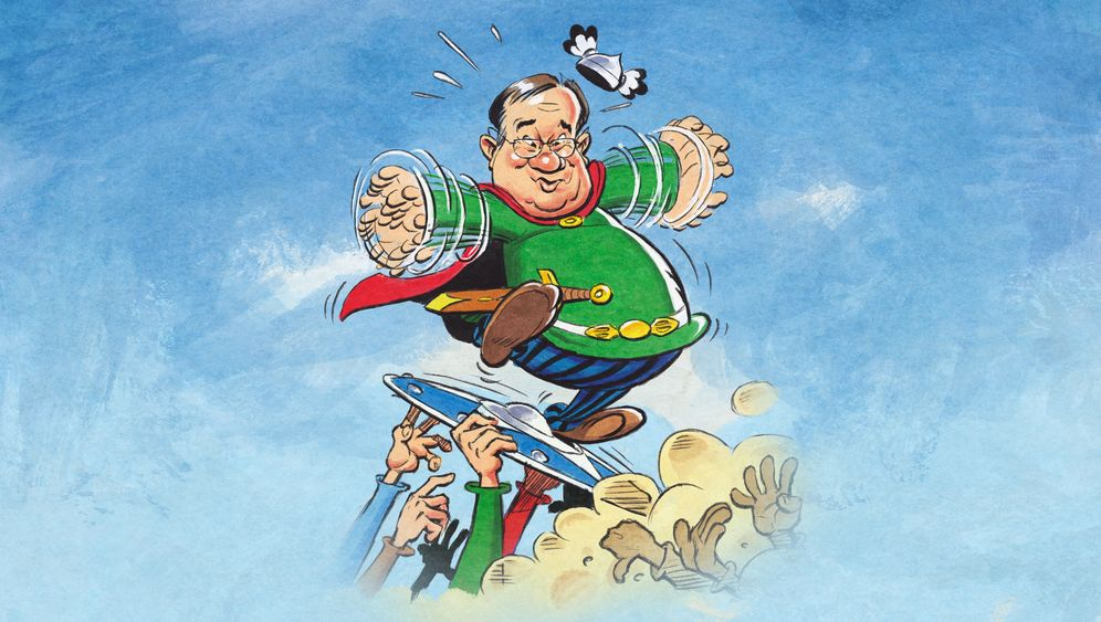 SPIEGEL-Karikatur von CDU-Chef Laschet: Realitätsverweigerer oder Stehaufmännchen?