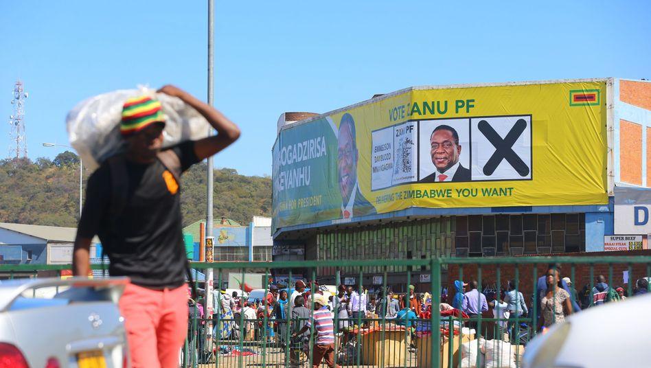 Wahlplakat in Simbabwe