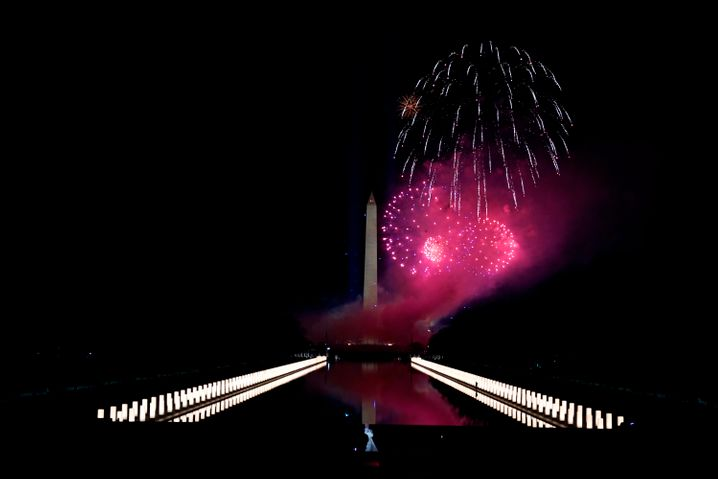 Feuerwerk am Lincoln Memorial