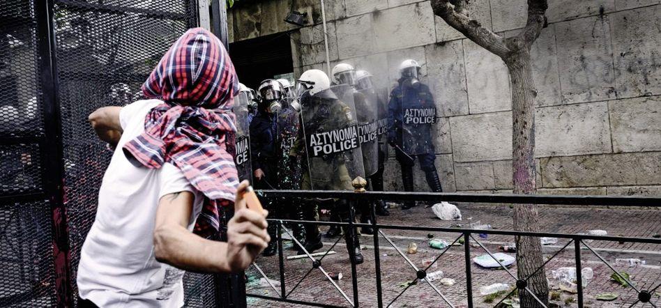 Demonstrant in Athen