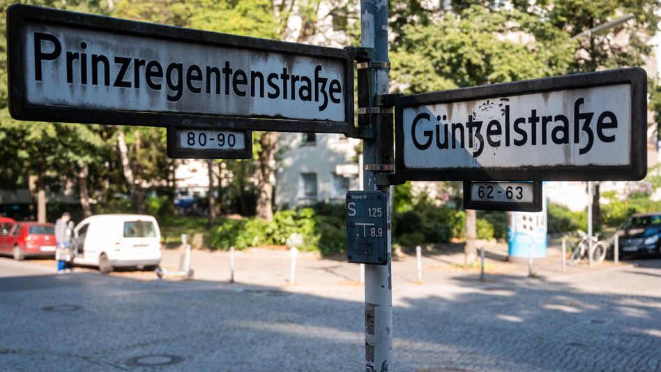 Straßenkreuzung in Berlin-Wilmersdorf nahe des Tatorts