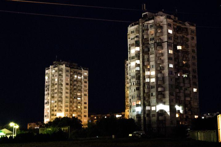 Hochhäuser in der Stadt Russe