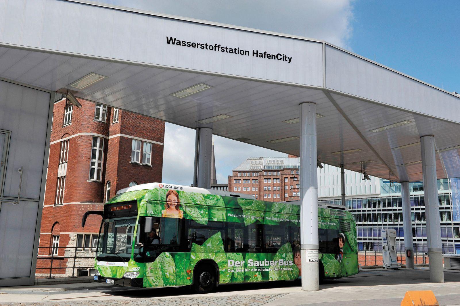 EINMALIGE VERWENDUNG Hochbahn / Bus / Brennstoffzellenhybridbus / EvoBus