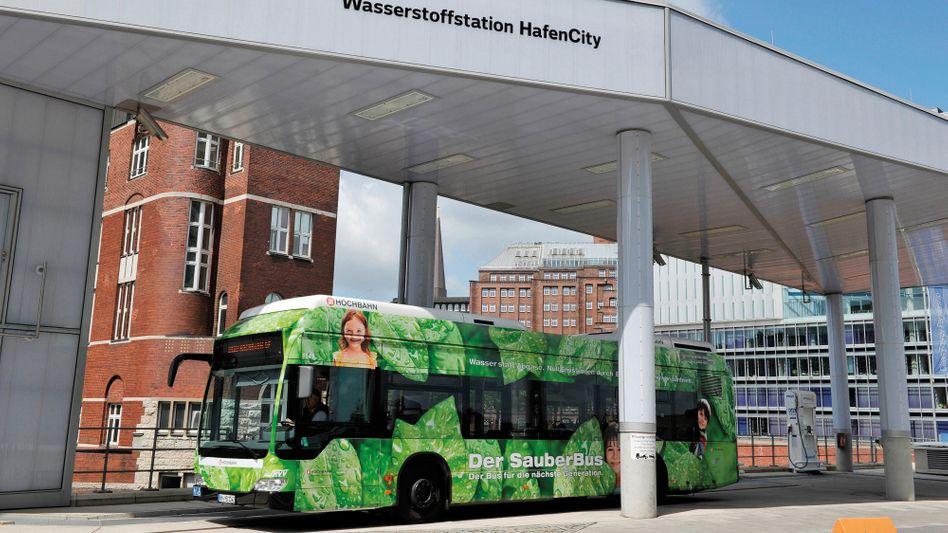 Wasserstoffbus der Hamburger Hochbahn
