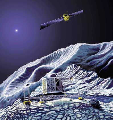 Raumsonde Rosetta: Mit Harpune auf dem Kometen verankern