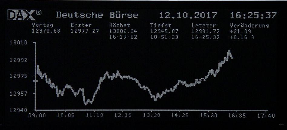 Rekordstand an der Börse in Frankfurt