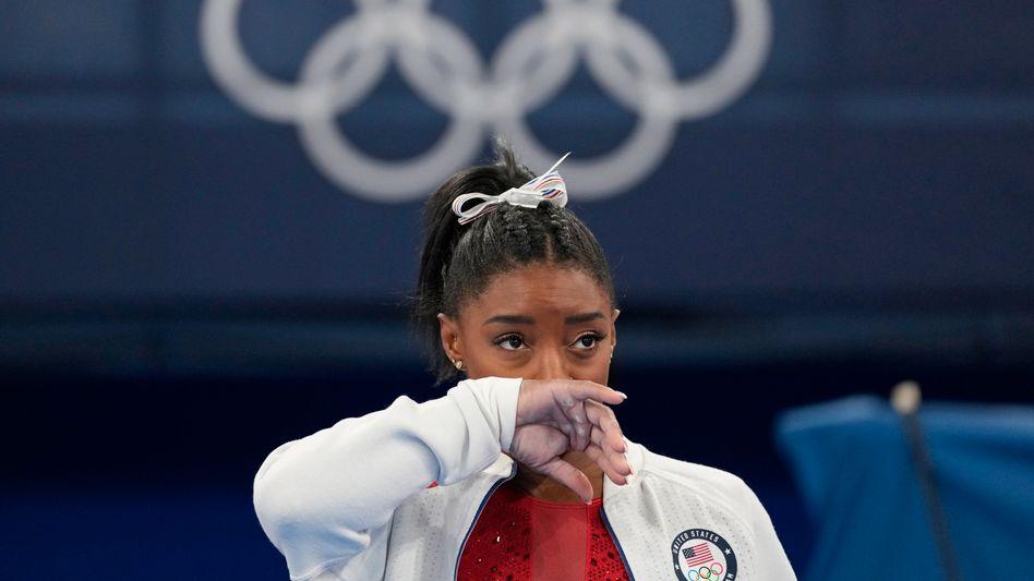 Simone Biles in Tokio: Das Teamfinale brach sie ab