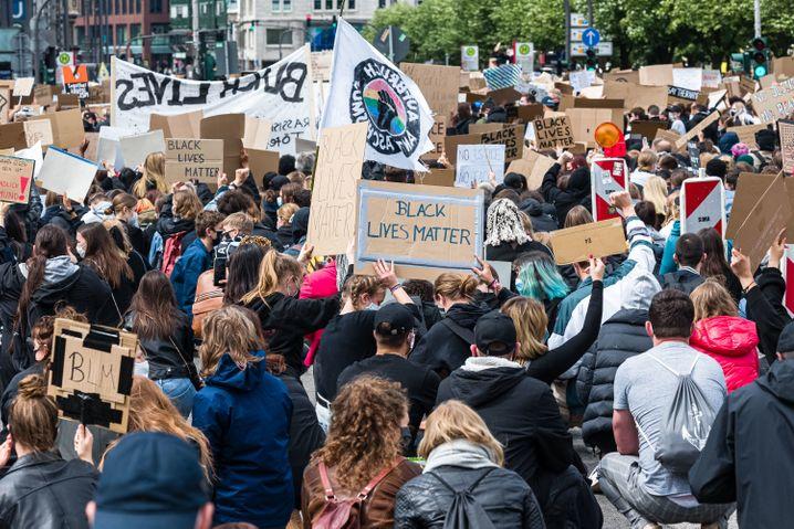 Demonstrierende am vergangenen Samstag in Hamburg