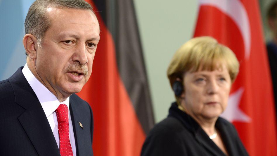 Erdogan und Merkel im Oktober 2012: Offizielles Aufklärungsziel