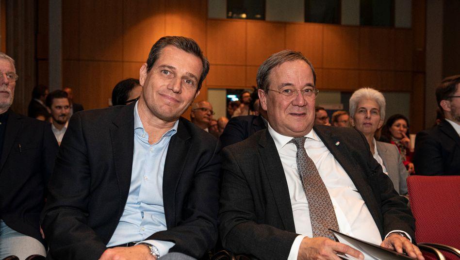 Olympia-Bewerber Michael Mronz und Armin Laschet: hochfliegende Pläne