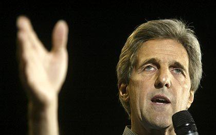 """John Kerry: Hat die Unterstützung der """"Times"""", liegt aber in den Umfragen noch hinten"""