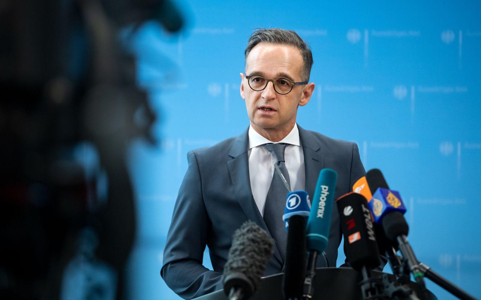 Coronavirus - Pk Außenminister Heiko Maas