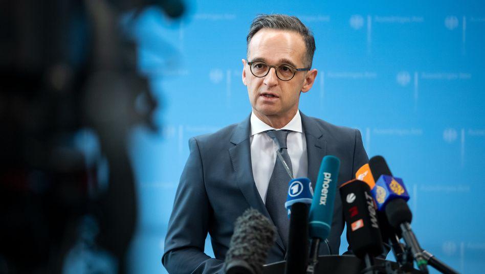 Außenminister Heiko Maas: Sicherstellen, dass Grundrechte eingehalten werden