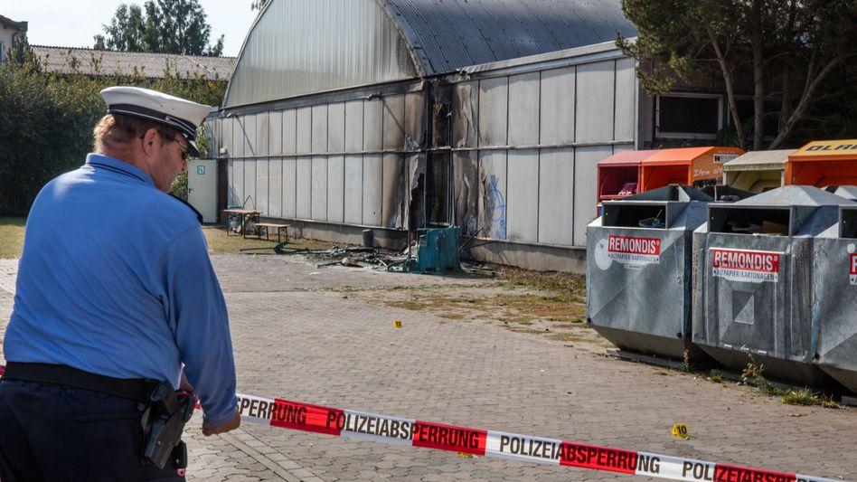 Notunterkunft für Flüchtlinge in Friemar: Ermittler gehen von Brandstiftung aus