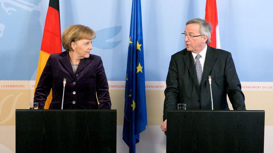 Bundeskanzlerin Merkel, Luxemburgs Regierungschef Juncker: Gegen Tabuzonen