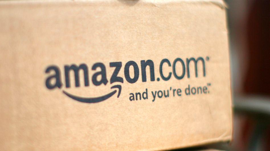 Amazon-Logo auf einer Versandbox: Rasantes Wachstum