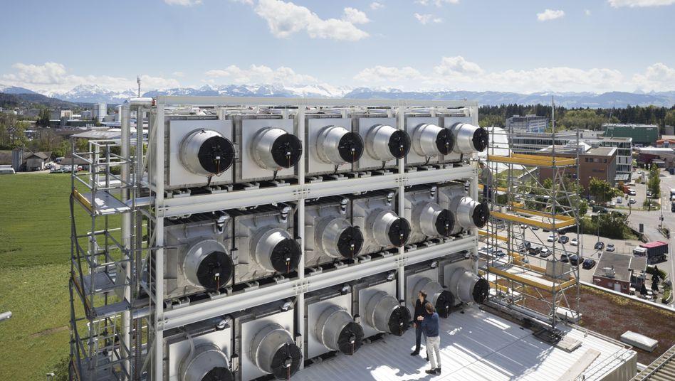 Anlage zum Entfernen von CO2 aus der Luft in der Schweiz
