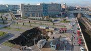 Gigantisches Loch tut sich vor Krankenhaus in Neapel auf