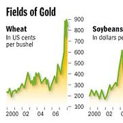 Most crops are rapidly becoming more dear.