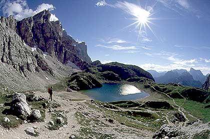 Am Lago Coldai: Zwischenstation auf der Runde um die Civetta