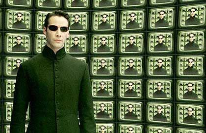 "Keanu Reeves im Actionfilm ""Matrix Reloaded"": Vision vom Mensch-Maschine-Dialog"