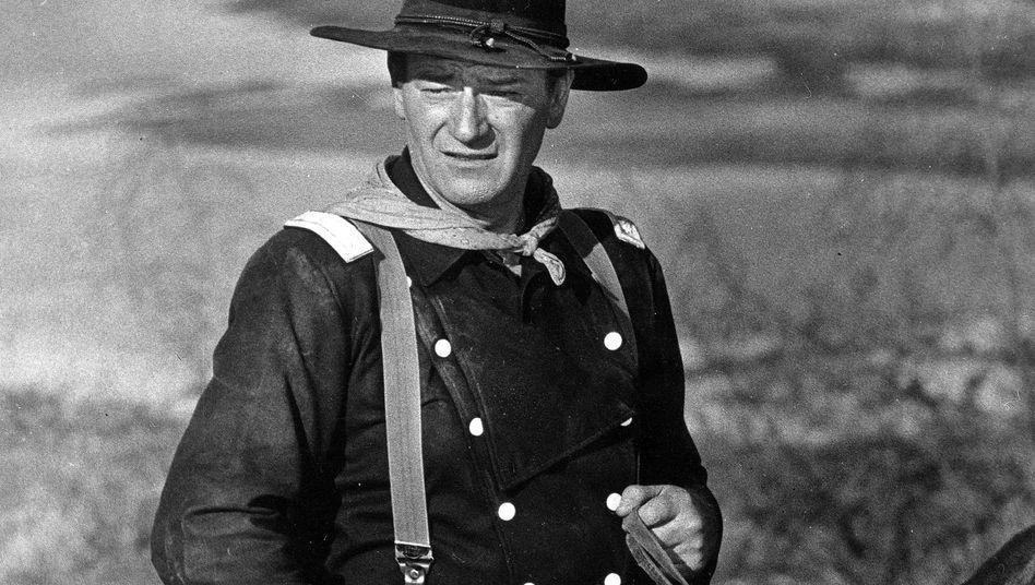 """Undatierte Aufnahme von John Wayne im Western """"Der letzte Befehl"""""""