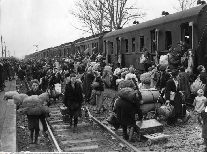 Im Lager Friedland bei Göttingen kamen insgesamt mehr als 800.000 Flüchtlinge an. Die Briten hatten hier im September 1945 eine erste Anlaufstelle eingerichtet.