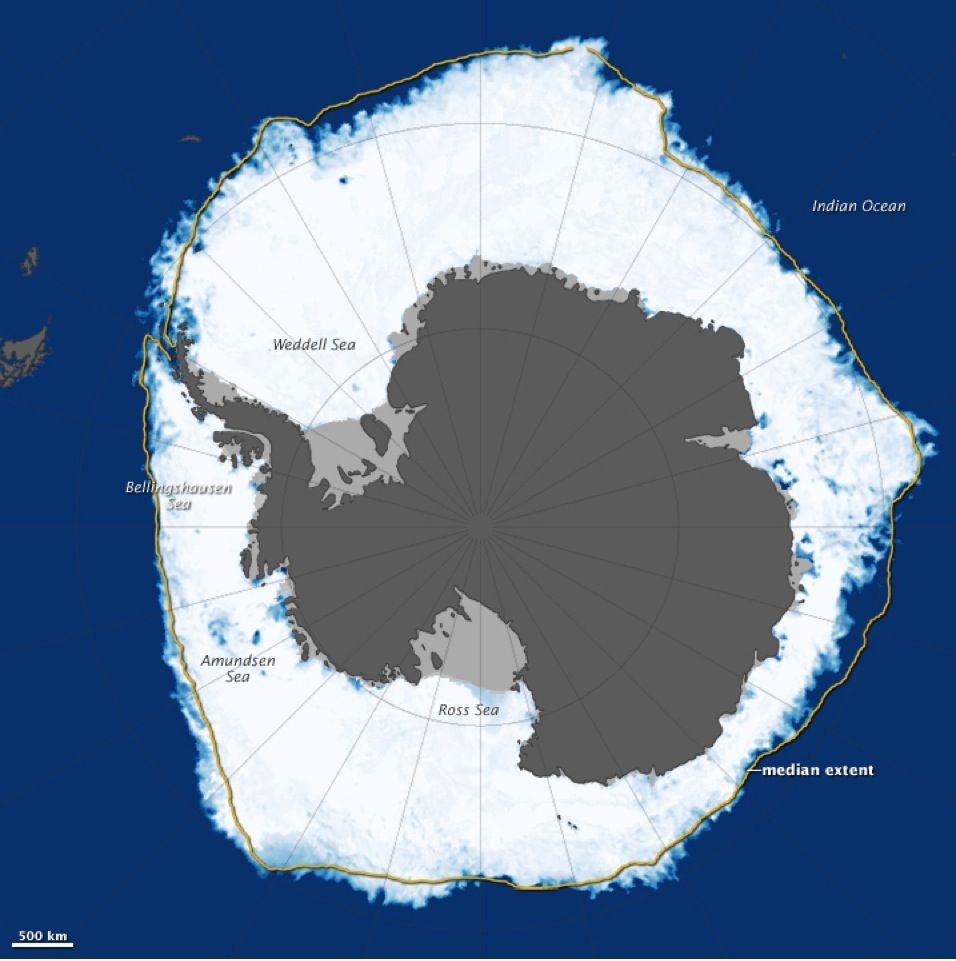 EINMALIGE VERWENDUNG GRAFIK Antarktis / Meeresspiegel