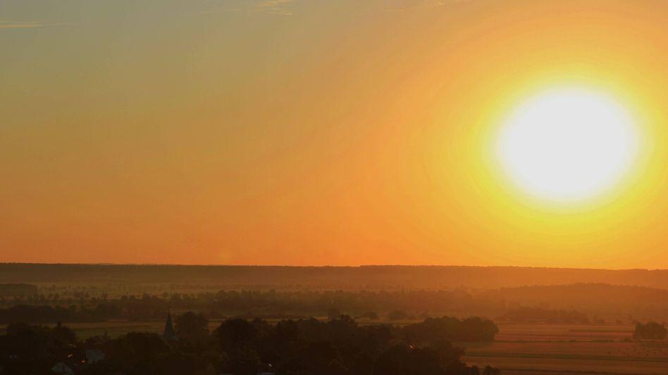 Sonnenaufgang über dem Oderwald Wolfenbüttel