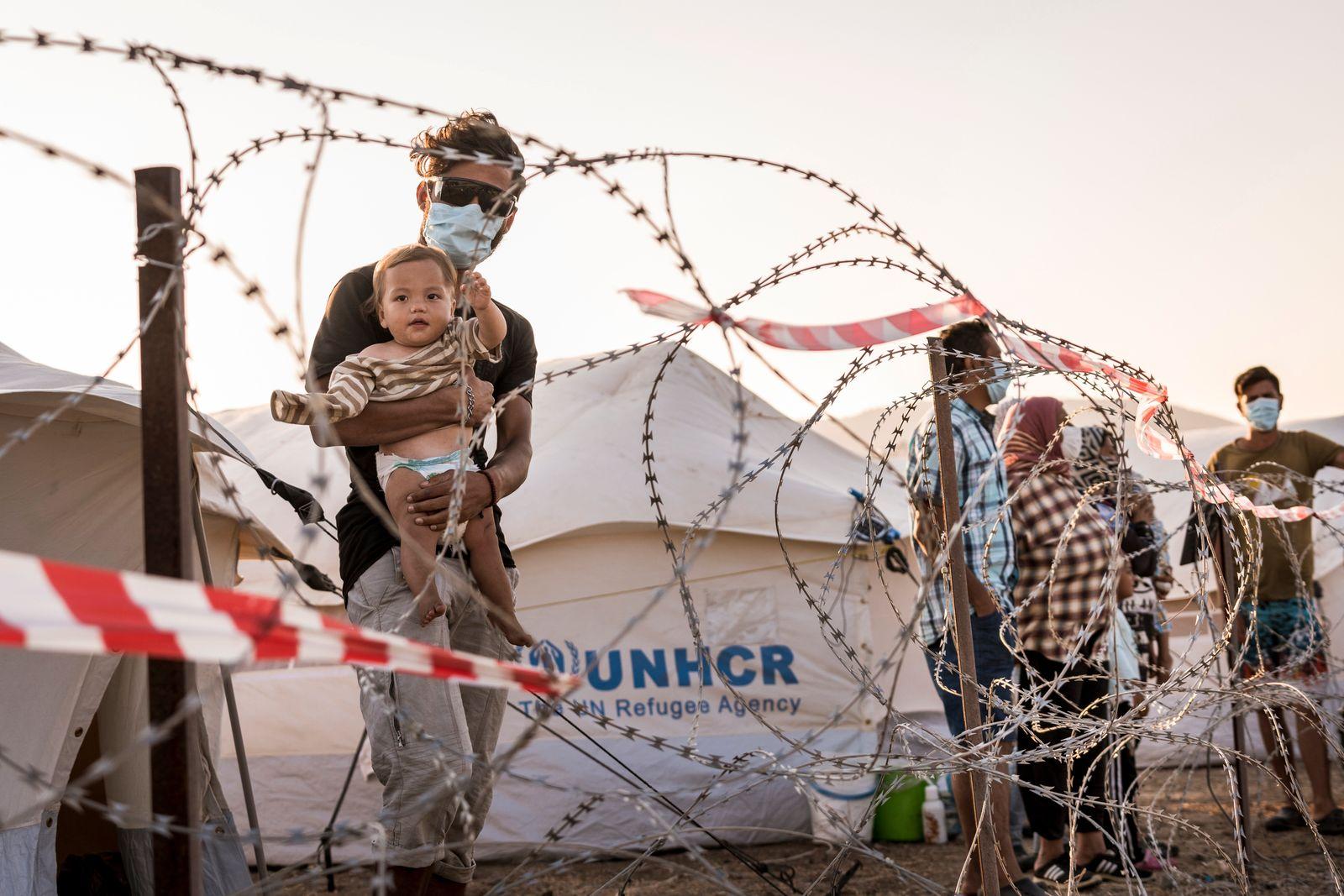 Neues Fluechtlingslager Karatepe, Lesbos, Griechenland