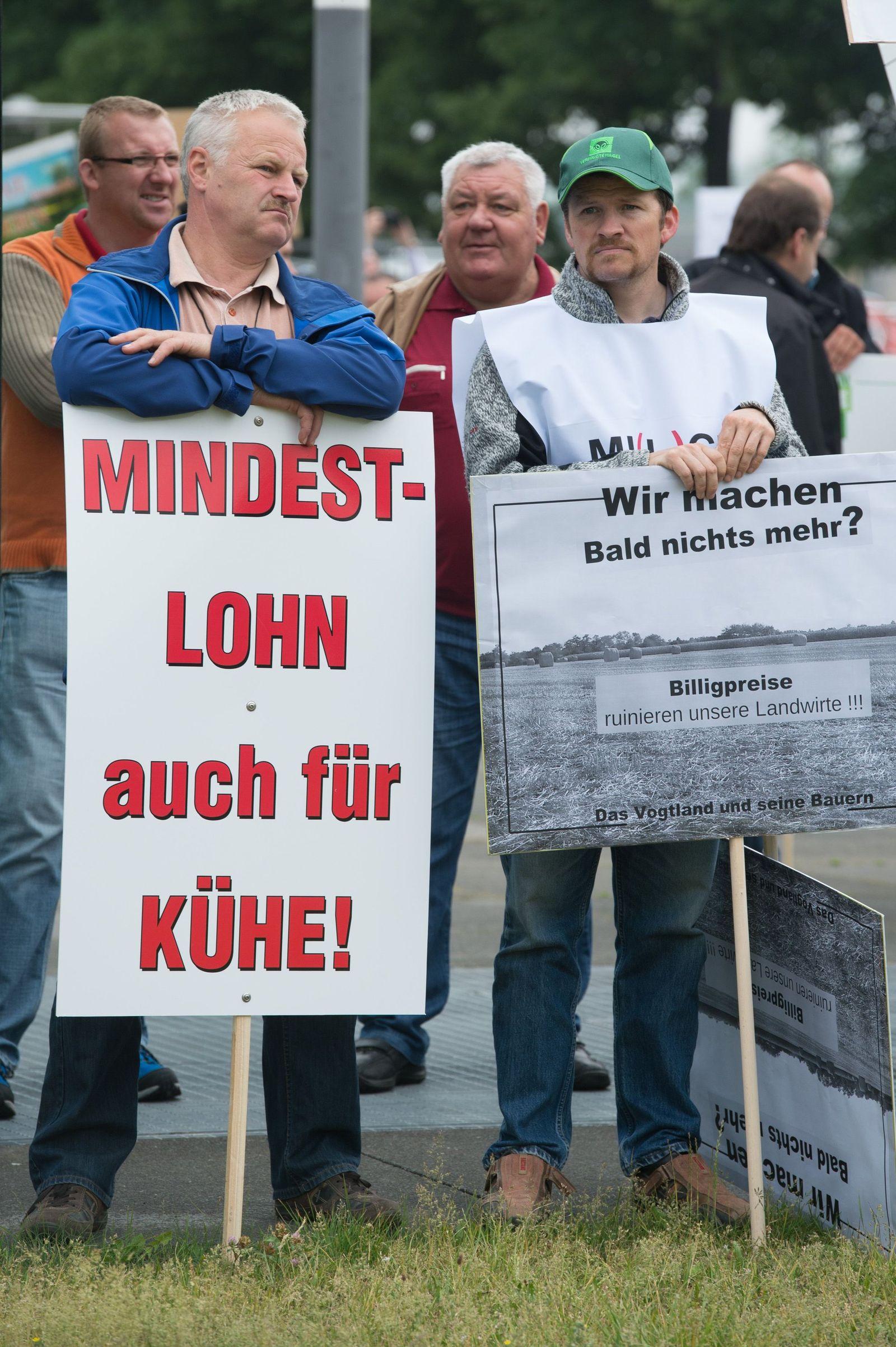 Milchbauern/ Sächsischer Landesbauernverband demonstriert