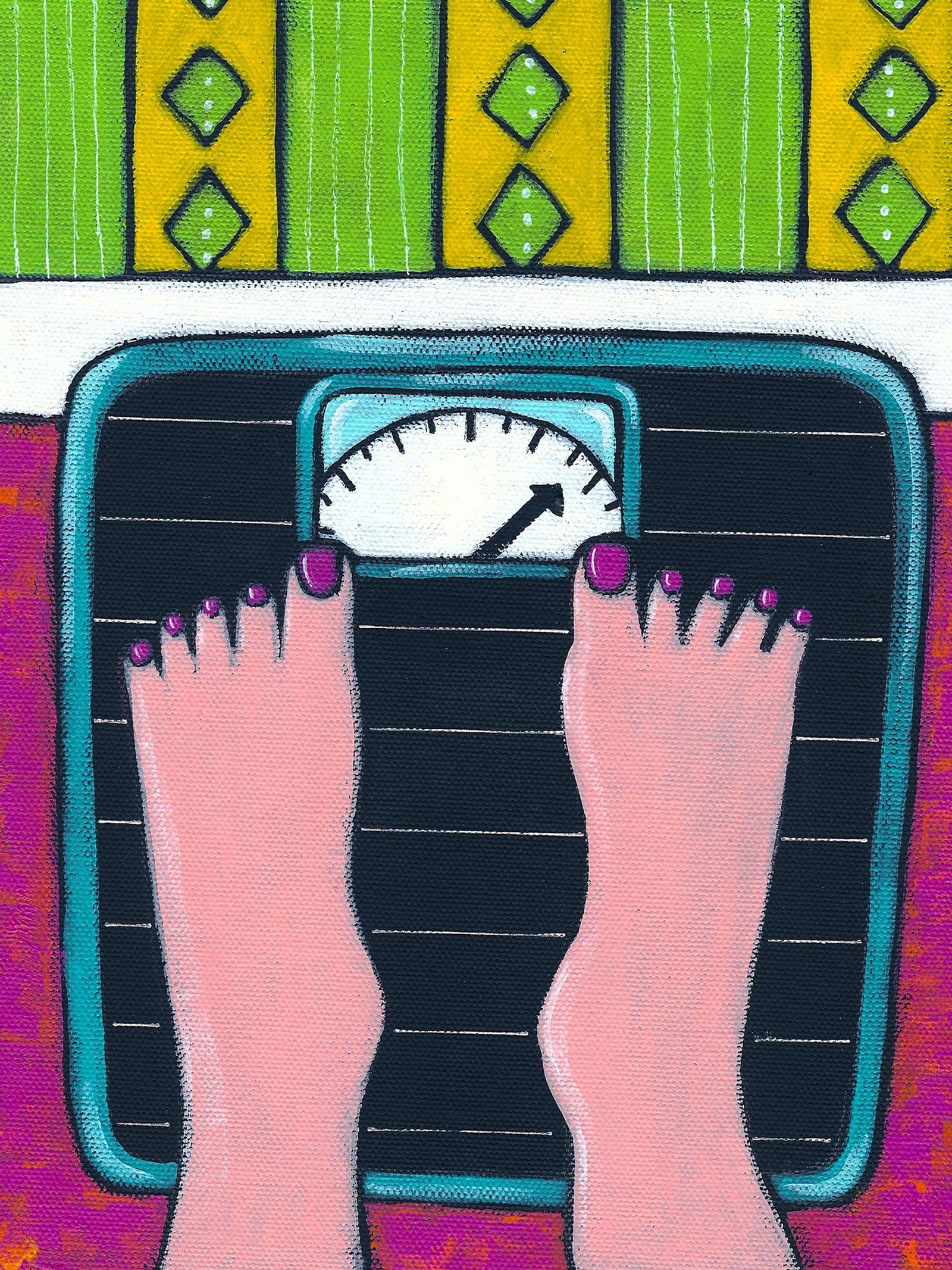 NICHT MEHR VERWENDEN! - Illustration / Waage / Gewicht