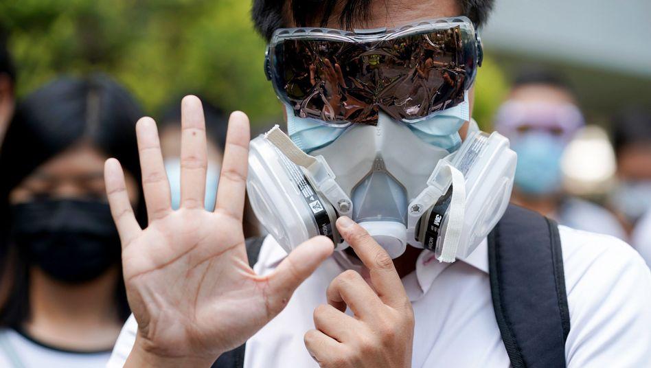 Künftig nicht mehr erlaubt: Masken bei Demonstrationen